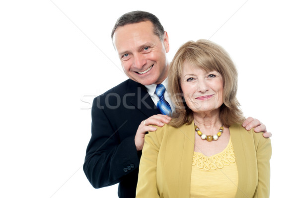 Happy seniors couple in love Stock photo © stockyimages