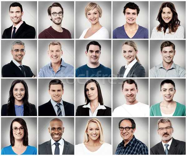 Composition of attractively smiling people Stock photo © stockyimages
