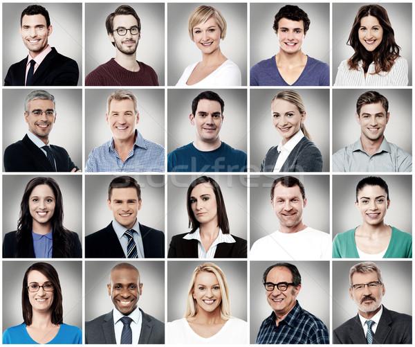 Souriant personnes différent heureux portrait travailleur Photo stock © stockyimages