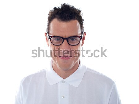 Closeup of casual man wearing eyeglasses Stock photo © stockyimages