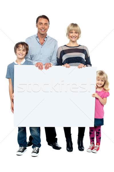 Stock foto: Tätig · jungen · Familie · ad · Bord