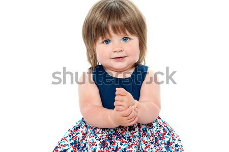 Casual shot of healthy baby girl Stock photo © stockyimages