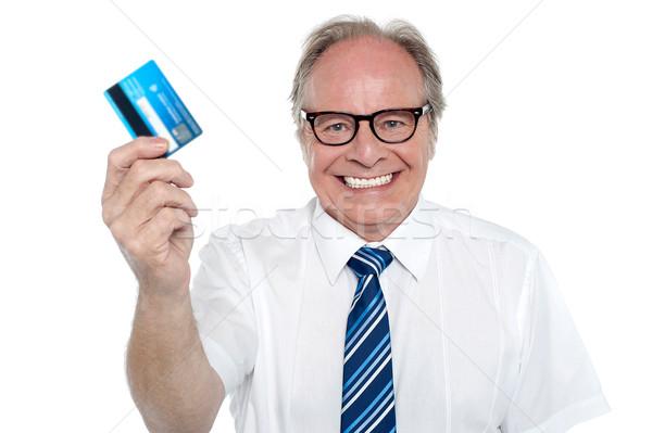 Alegre empregador numerário cartão Foto stock © stockyimages