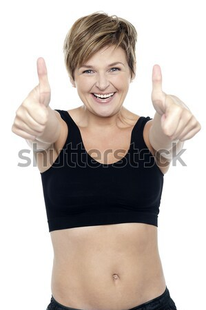 Encajar mujer deportes sujetador doble Foto stock © stockyimages