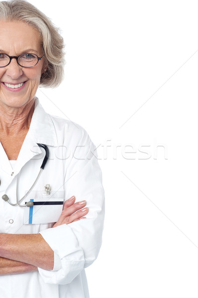 Experienced female physician. Cropped image. Stock photo © stockyimages