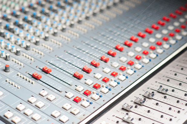 Detailed professional audio mixer Stock photo © stockyimages