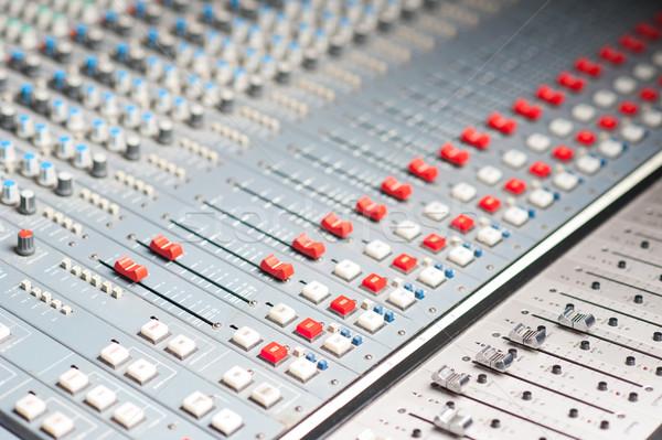 подробный профессиональных аудио смеситель звук Сток-фото © stockyimages