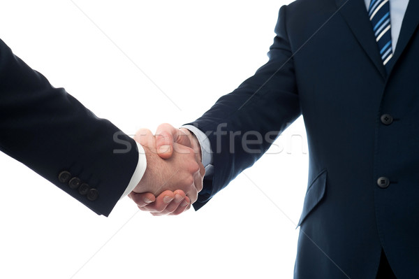 Closeup of business people shaking hands Stock photo © stockyimages