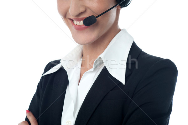 Female customer support executive, cropped image Stock photo © stockyimages