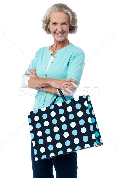 Satış alışveriş maksimum kıdemli akıllı kadın Stok fotoğraf © stockyimages