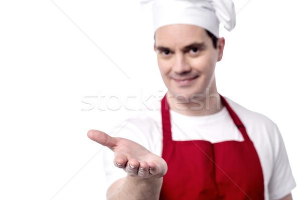 Gusto piatto maschio capo mano Foto d'archivio © stockyimages