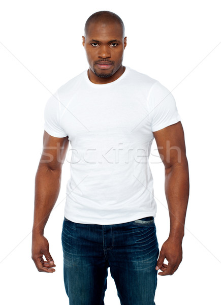 Portrait of casual muscular african young man Stock photo © stockyimages
