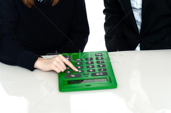 Сток-фото: изображение · учитель · студент · калькулятор · большой