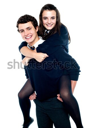 Snapshot of cheerful attractive couple Stock photo © stockyimages