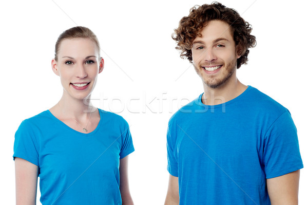 Girlfriend and boyfriend posing together Stock photo © stockyimages