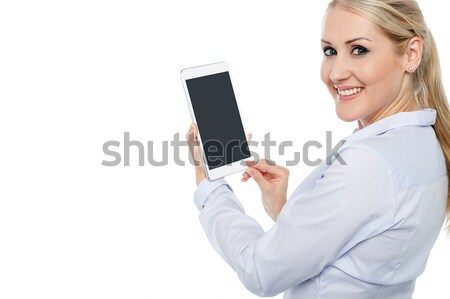 Check out new generation touch pad device. Stock photo © stockyimages