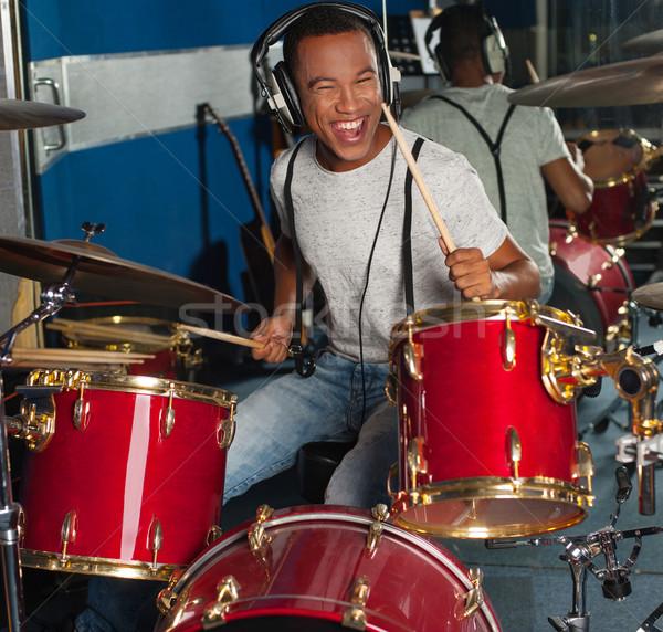 барабанщик далеко ритм действий внутри Сток-фото © stockyimages