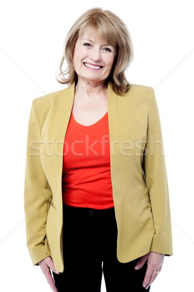 Foto d'archivio: Sorridere · femminile · senior · executive · di · bell'aspetto · donna