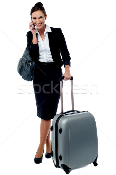 Hi dear, i am waiting in airport.  Stock photo © stockyimages
