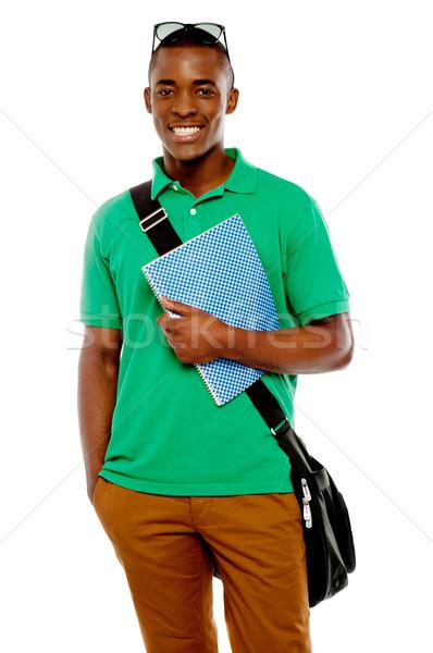 Stock foto: Sonnenbrillen · Kopf · halten · Spirale · Notebook