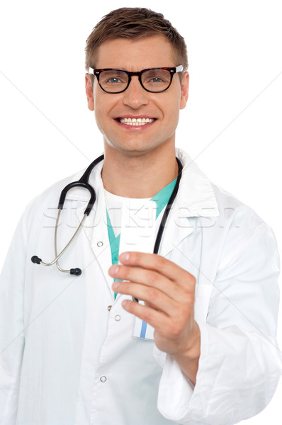 Portrait of a young doctor with medicines Stock photo © stockyimages