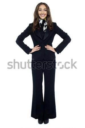魅力的な 小さな スチュワーデス 肖像 女性 ストックフォト © stockyimages