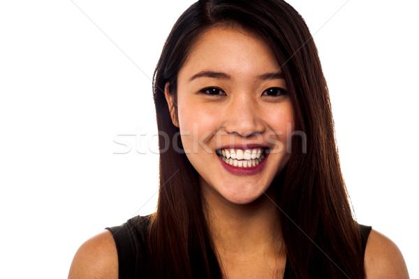 笑みを浮かべて アジア 少女 美しい 長髪 小さな ストックフォト © stockyimages
