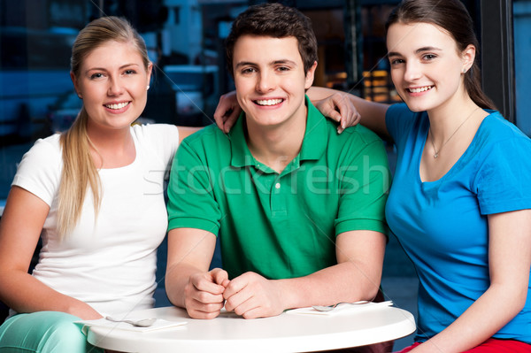 Friends enjoying their day out Stock photo © stockyimages