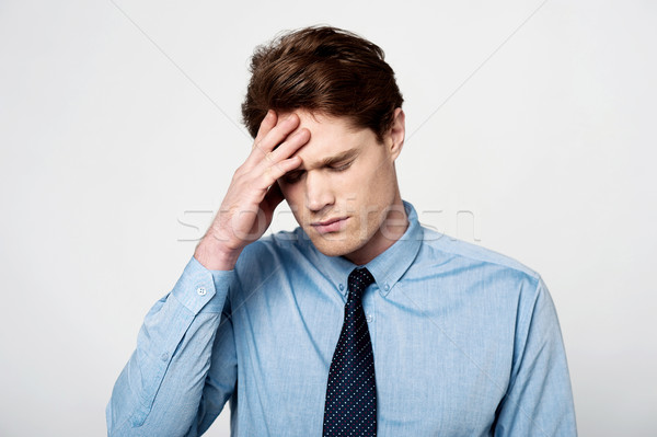 Business man under pressure Stock photo © stockyimages