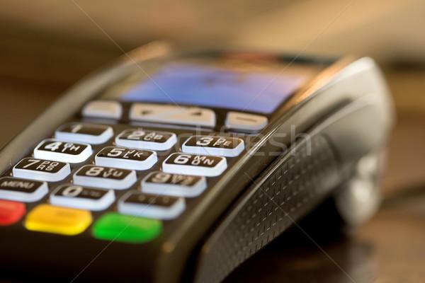 Hitelkártya olvasó gép közelkép kép pénz Stock fotó © stockyimages