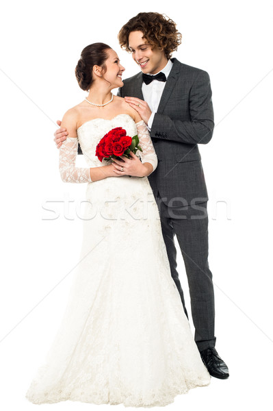 Young beautiful couple admiring each other Stock photo © stockyimages