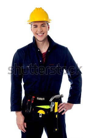 Casual woman construction worker portrait Stock photo © stockyimages