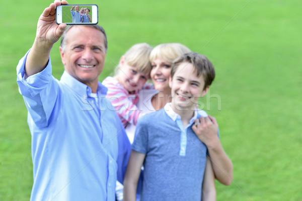 Rodziny przyjemność ojciec zdjęcie odkryty Zdjęcia stock © stockyimages