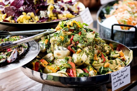 Salad buffet with a rich choice Stock photo © stockyimages