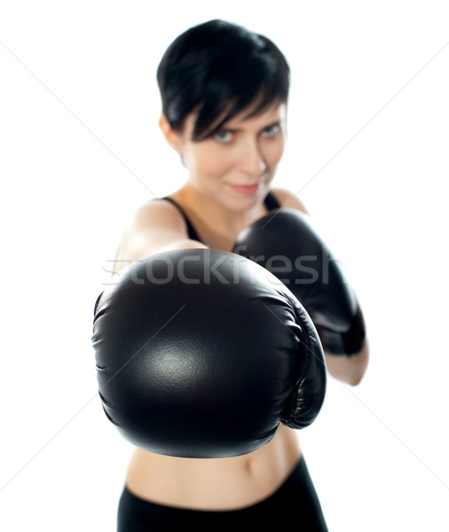 Boxing champ Stock photo © stockyimages