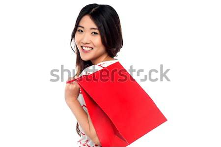 Shopaholic attractive asian girl Stock photo © stockyimages