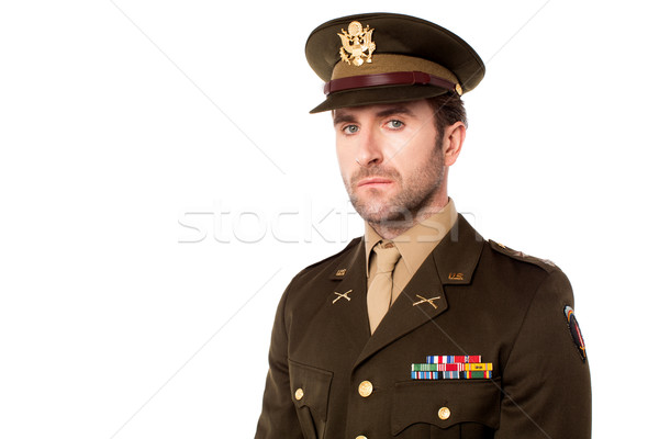 Young american soldier in uniform Stock photo © stockyimages