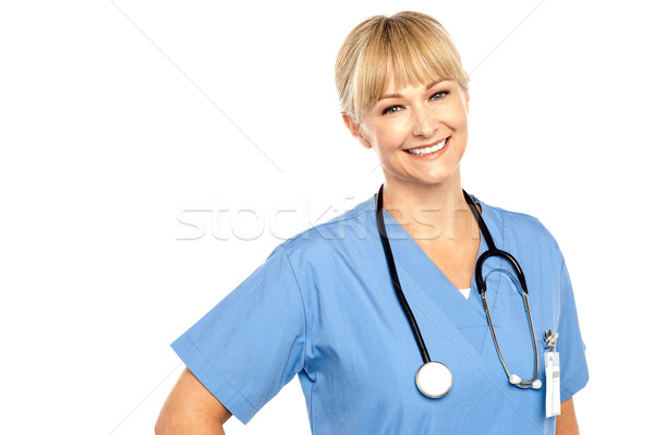 Snap shot of a charming young caucasian doctor Stock photo © stockyimages