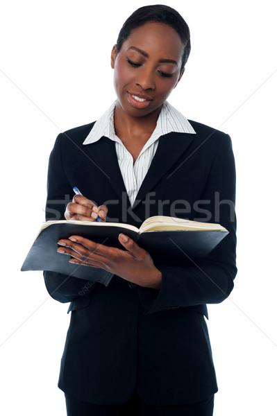 Titkárnő női toll dolgozik igazgató állás Stock fotó © stockyimages