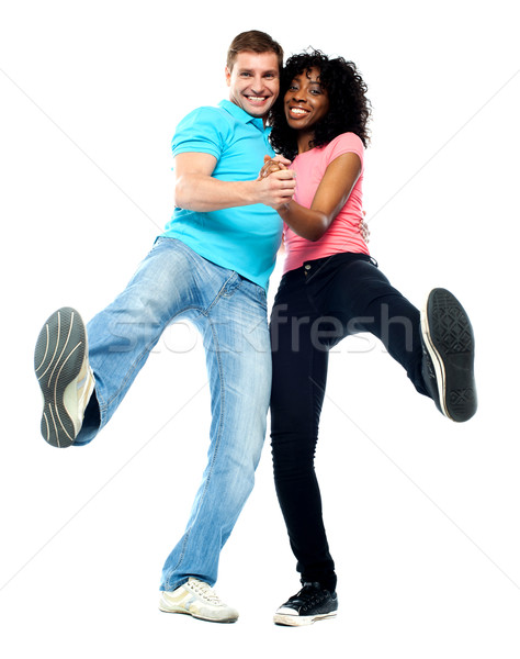 Dancing couple having fun Stock photo © stockyimages
