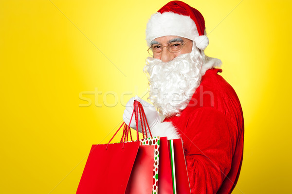 Shopaholic Santa is coming to you this Christmas Stock photo © stockyimages