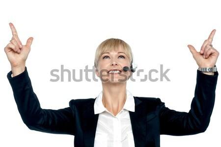 Jubilant businesswoman celebrating her success Stock photo © stockyimages