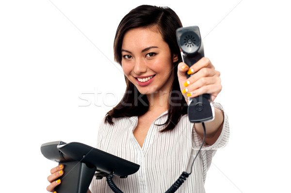 Stock photo: Clients call for you boss!