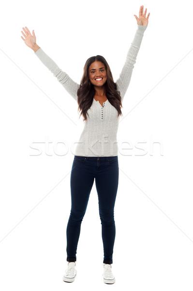 若い女の子 歓喜 興奮 ショット 興奮した ストックフォト © stockyimages