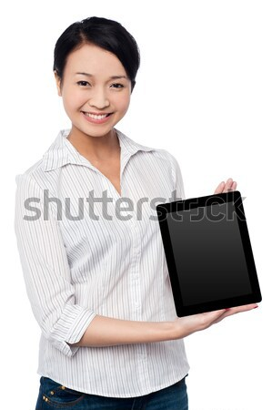 Newly launched tablet device in the market Stock photo © stockyimages