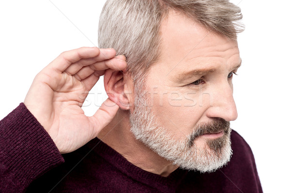 Can't hear you, what did you say ? Stock photo © stockyimages