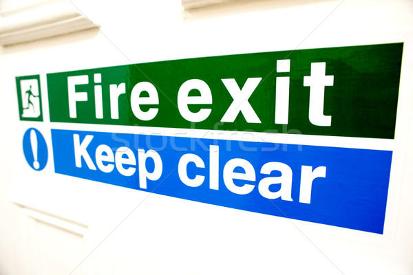 Fire exit keep clear sign Stock photo © stockyimages