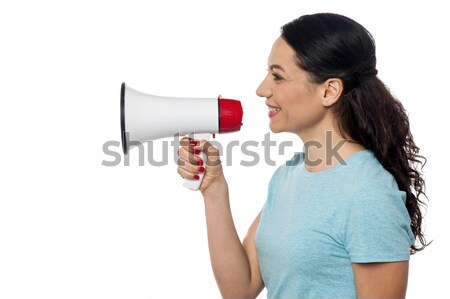 Attention! great news to share ! Stock photo © stockyimages