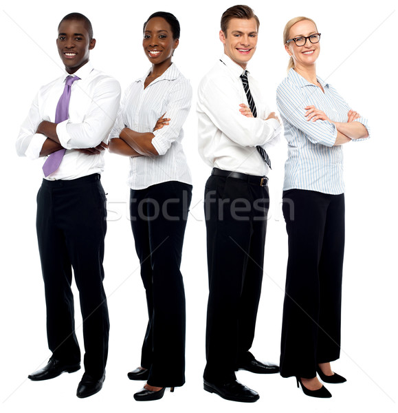 élite equipo de negocios jóvenes atractivo gente de negocios negocios Foto stock © stockyimages