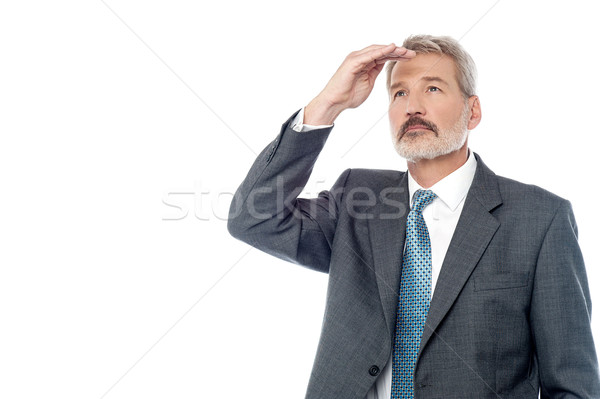 Senior businessman looking from far away Stock photo © stockyimages